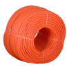 6mm Orange 3 Strand Polyethylene Rope 220m Coil