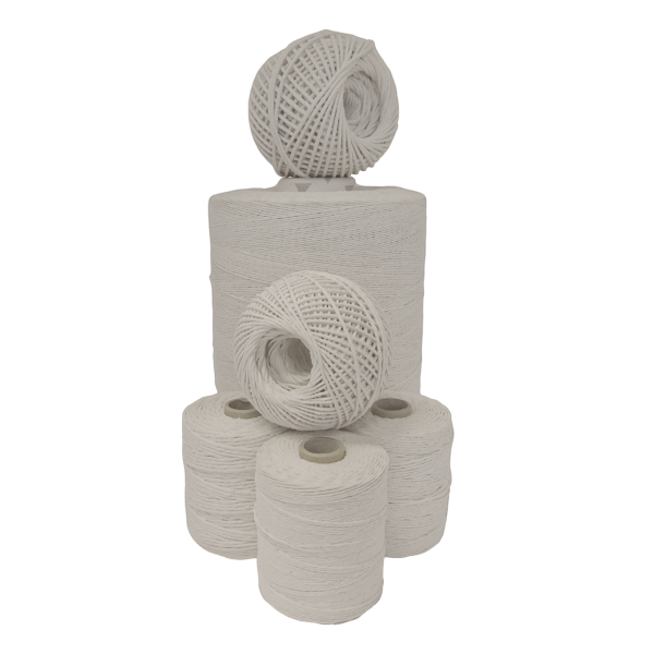 A selection of industrial cotton twines